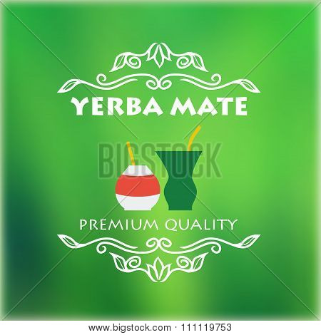 Vintage Yerba Mate Label