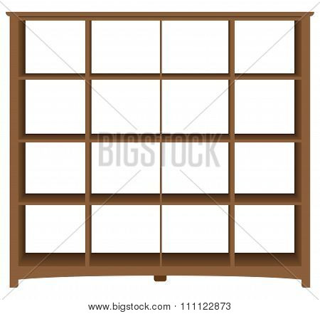 Modern Office Bookcase With Square Cells