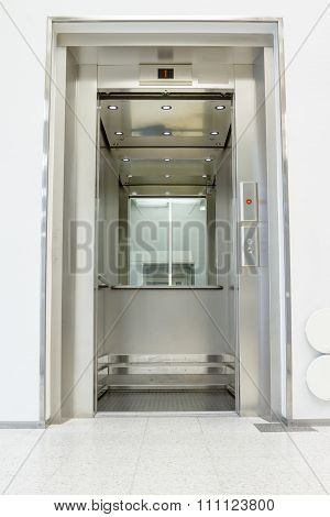Open Elevator In The Hall