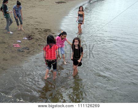 Children Wade in the Water