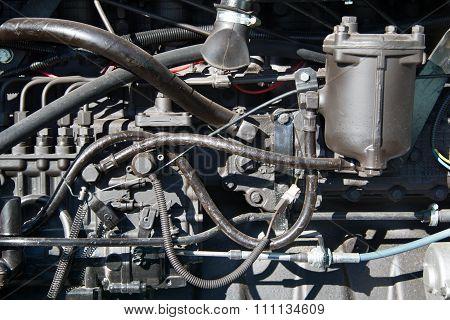 Motor Tractor Closeup
