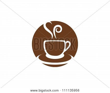 Coffee Icon Logo Template
