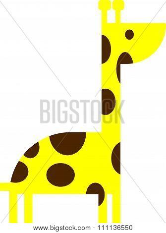 Cartoonish giraffe