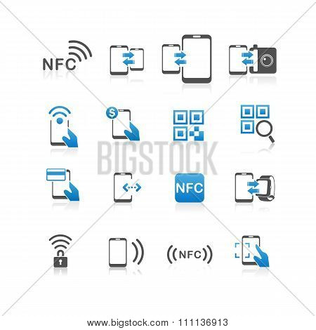 Nfc Technolgy Icon Set