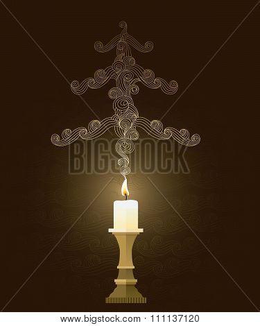 Elegant Smoky Christmas Card