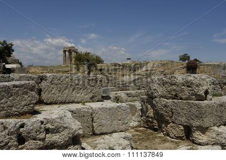 Ruins Of Historical Ancient Corinth