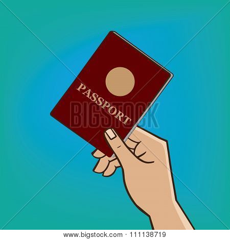 Outstretched Hand With Passport