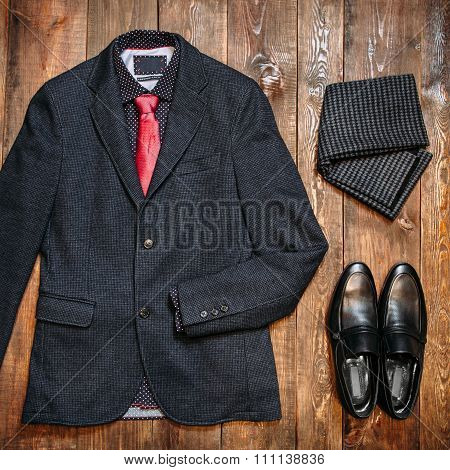 Set Of Fashionable Business Clothes For Men
