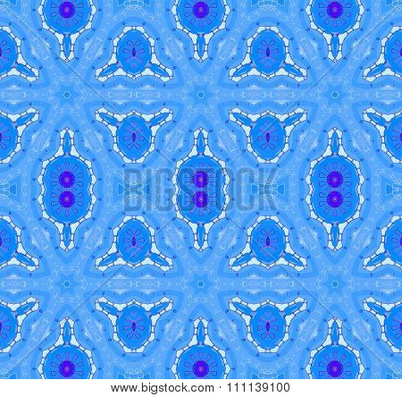 Seamless ellipses pattern blue purple white