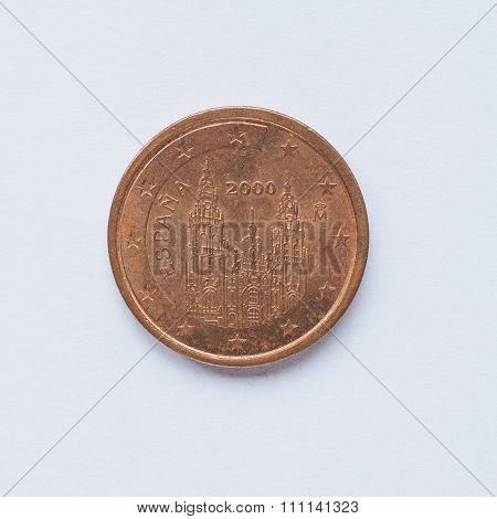 Spanish 2 Cent Coin