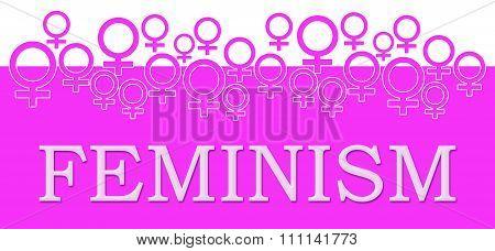 Feminism Pink Female Symbols On Top