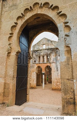 The Inside Gate Of Chellah Which Is The World Heritage In Rabat
