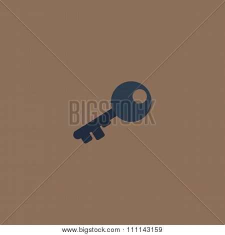 Old key silhouette isolated