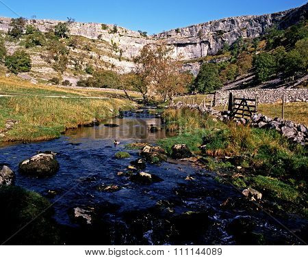 Malham cove and beck, Yorkshire Dales.