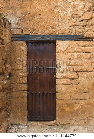 The Wooden Door In Chellah Which Is The World Heritage In Rabat