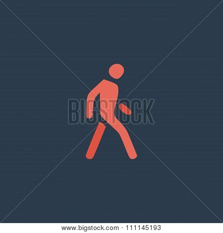 Pedestrian flat icon