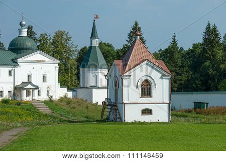 The Valdai Iver Svyatoozersky Virgin Monastery. Tombs Of Panaeva With Chapel Xix