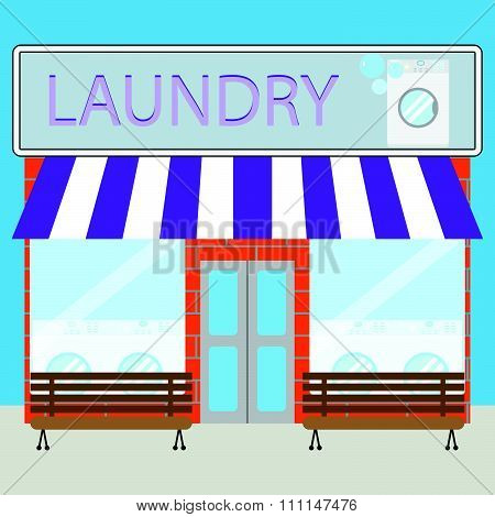 Building laundry flat design