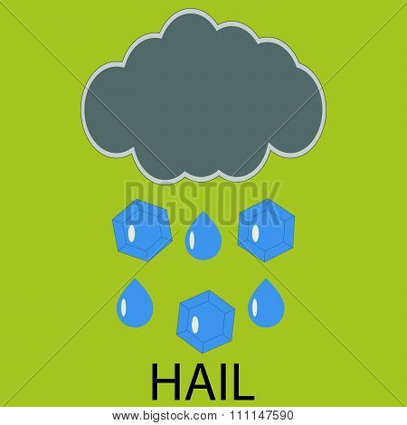 Icon weather hail