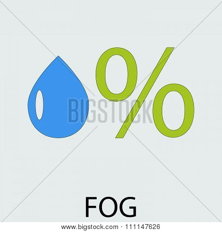 Icon weather fog mist