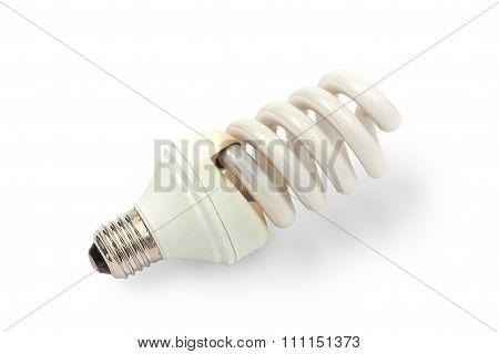 Burned Fluorescent Lamp