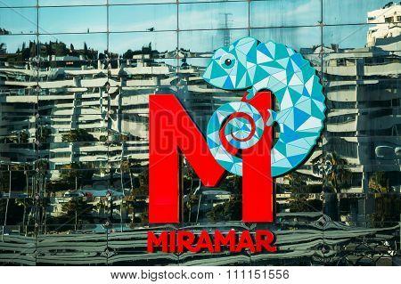 Logo of Miramar Shopping Centre in Fuengirola, Spain