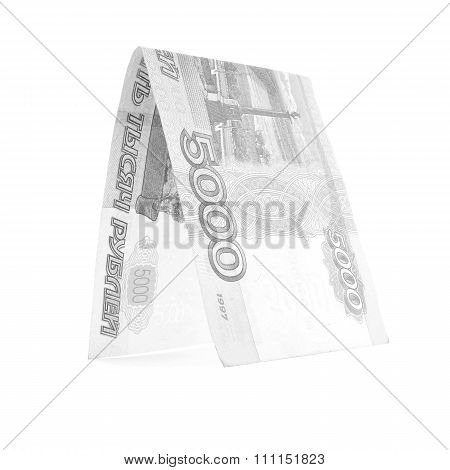 Russian Ruble Currency Hut, Rouble Kennel Isolated On White Background