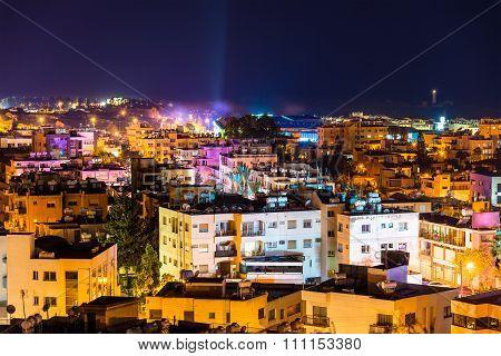 Night View Of Paphos City - Cyprus