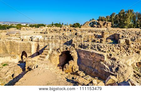 Saranta Kolones, A Ruined Medieval Fortress In Paphos - Cyprus