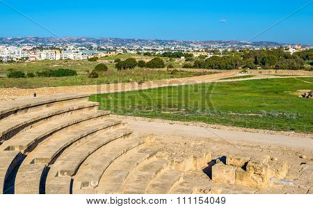View From Odeon Amphitheatre In Paphos - Cyprus