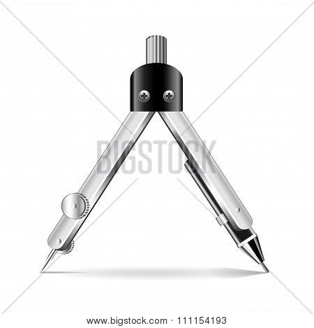 Divider Tool Isolated On White Vector