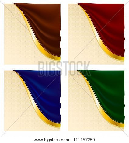 Decorative Background With Drapery