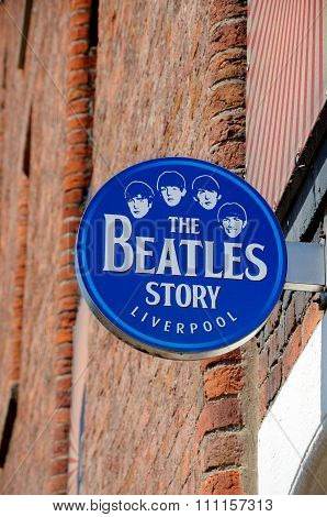The Beatles Story sign, Liverpool.