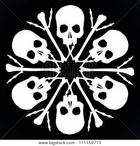 Skulls And Bones Jolly Snowlake