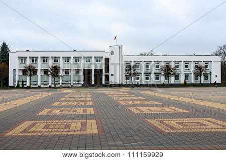 Kobrin District Executive Committee, Lenin Square, Kobrin, Belarus