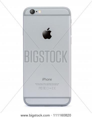 Bangkok, Thailand - Dec 12, 2015 : Iphone 6 Back Side Isolated On White, Iphone Developed By Apple I