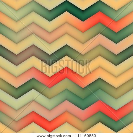 Raster Seamless Zigzag Red Green Tan Gradient Chevron Pattern