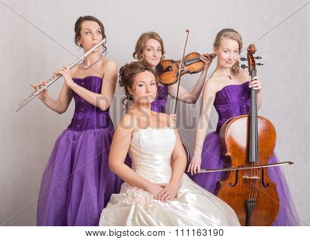 Trio And A Bride