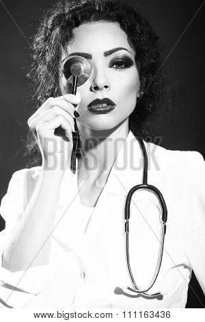 Nurse With Stethoscope