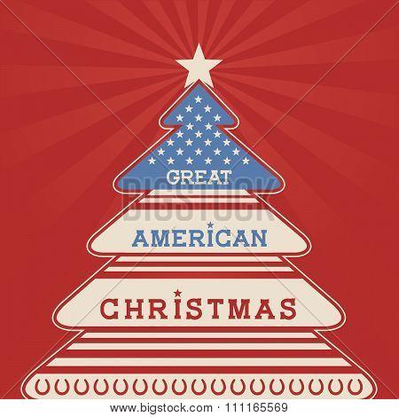 American Christmas Tree Poster