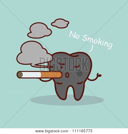 Smoking Cartoon Tooth