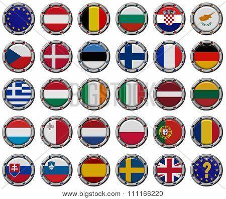 Euro Set. Flags Of The European Union