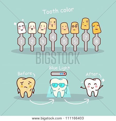 Tooth With Whitening Tool