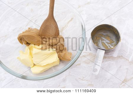 Mixing Peanut Butter And Butter