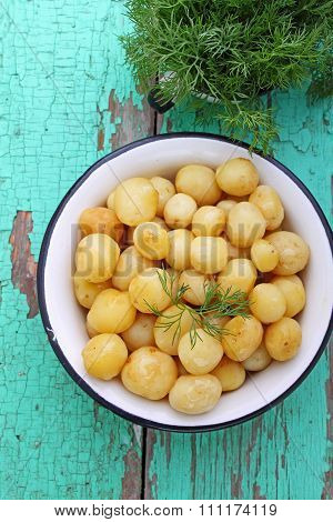 Young Boiled Potatoes With Butter And Dill