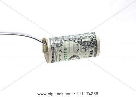 fork with dollar