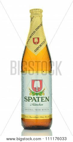 Spaten beer isolated on white background