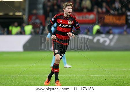 Christoph Kramer During The Uefa Champions League Game Between Bayer 04 Leverkusen Vs Barcelona At B