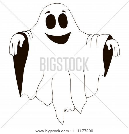 Kind halloween ghost white