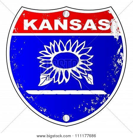 Kansas Interstate Sign